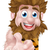funny · cartoon · jaskiniowiec · ilustracja · biały · uśmiech - zdjęcia stock © krisdog