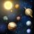 pianeta · sistema · solare · sole · luna · spazio · silhouette - foto d'archivio © krisdog