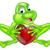 frog heart concept stock photo © krisdog