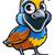 quail bird cartoon character stock photo © krisdog