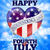 negyedik · amerikai · zászló · égbolt · boldog · nap · buli - stock fotó © krisdog