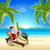 santa relaxing on hot sunny beach stock photo © krisdog