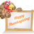 happy thanksgiving turkey sign stock photo © krisdog
