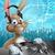 easter bunny party dj stock photo © krisdog