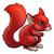 piros · mókus · állat · karakter · rajz · illusztráció - stock fotó © krisdog