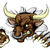 bull sports mascot breaking wall stock photo © krisdog