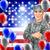feliz · dia · américa · cartão · Estados · Unidos · festa - foto stock © krisdog