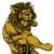 lion mascot fighting stock photo © krisdog
