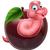 desenho · animado · maçã · verme · mão · projeto · louco - foto stock © krisdog