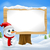 cute christmas snowman and sign stock photo © krisdog