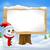 雪だるま · にログイン · ポスト · ポインティング · 木材 - ストックフォト © krisdog