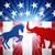 demokrat · eşek · bayrak · siyasi · parti · Amerika - stok fotoğraf © krisdog