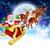 santa reindeer sleigh cartoon christmas scene stock photo © krisdog