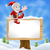 cartoon santa christmas sign stock photo © krisdog