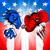 elefánt · republikánus · politikai · kabala · sziluett · amerikai · zászló - stock fotó © krisdog