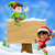 christmas elves and sign stock photo © krisdog