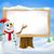 ilan · panosu · kardan · adam · Noel · mavi · dizayn · çerçeve - stok fotoğraf © krisdog