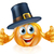 thanksgiving pilgrim hat pumpkin man stock photo © krisdog