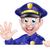 漫画 · 笑みを浮かべて · 警察官 · 男 - ストックフォト © krisdog