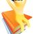 goud · persoon · top · boeken · omhoog - stockfoto © krisdog