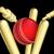 cricket ball breaking wicket stumps stock photo © krisdog