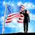 american flag and silhouette soldier saluting stock photo © krisdog
