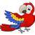 desenho · animado · pirata · papagaios · sorrir · olho · mar - foto stock © krisdog