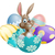 lapin · de · Pâques · oeufs · lapin · chocolat · œufs · de · Pâques · printemps - photo stock © Krisdog