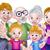 Cartoon · родителей · детей · дети · семьи · группа - Сток-фото © krisdog