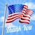 memorial day or veterans day thank you american flag stock photo © krisdog