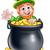 dia · de · São · Patricio · caldeirão · moedas · de · ouro · arco-íris · shamrock · textura - foto stock © krisdog