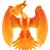 brûlant · phoenix · belle · illustration · isolé · noir - photo stock © krisdog
