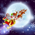 santa christmas sleigh moon stock photo © krisdog