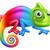 cute · camaleonte · illustrazione · verde · cartoon · lucertola - foto d'archivio © krisdog