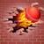 крикет · мяча · огня · пылающий · Flying · воздуха - Сток-фото © krisdog