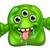 green cute alien monster stock photo © krisdog