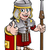roman soldier cartoon character stock photo © krisdog