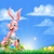 cartoon · roze · Easter · Bunny · ei · jacht · mand - stockfoto © krisdog