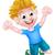 幸せ · 少年 · 大きな笑顔 · 空気 - ストックフォト © krisdog