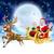 vektor · mikulás · repülés · hold · karácsony · ünnep - stock fotó © krisdog