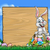 cartoon easter bunny background sign stock photo © krisdog