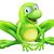 sevimli · mutlu · gülen · yeşil · kurbağa · karikatür - stok fotoğraf © krisdog