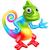 cartoon rainbow chameleon stock photo © krisdog