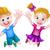cartoon · jongen · meisje · kinderen · gelukkig - stockfoto © krisdog
