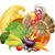 turkey in chef hat and cornucopia stock photo © krisdog