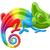 Rainbow · camaleonte · illustrazione · cartoon · sorriso · arte - foto d'archivio © krisdog