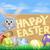 Paskalya · afiş · yumurta · tavşan · sepet · süs - stok fotoğraf © krisdog