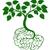 зеленый · мозг · дерево · вектора · думать · экологический - Сток-фото © krisdog