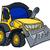 rajz · buldózer · karakter · építkezés · jármű · rajzfilmfigura - stock fotó © krisdog