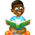 cartoon boy reading amazing book stock photo © krisdog